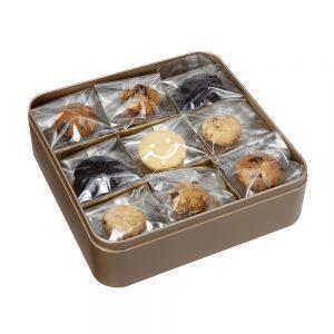 Premium Classic Assorted Cookie Tin Open