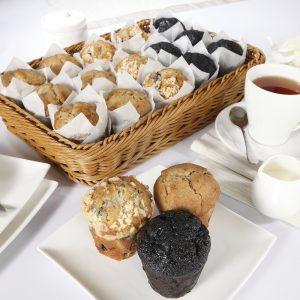 Blueberry, Bananas, Triple Chocolate Sweet Palate Muffins
