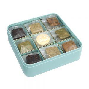 Deluxe assorted shortbread cookie tin